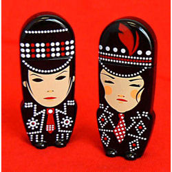 White Stripes USB