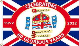 Diamond jubilee flags queens jubilee 2012
