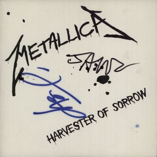 Metallica+-+Harvester+Of+Sorrow+-+Autographed+-+7-+RECORD-592918