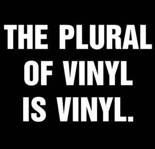 Plural of Vinyl